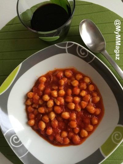 receta garbanzos con tomate