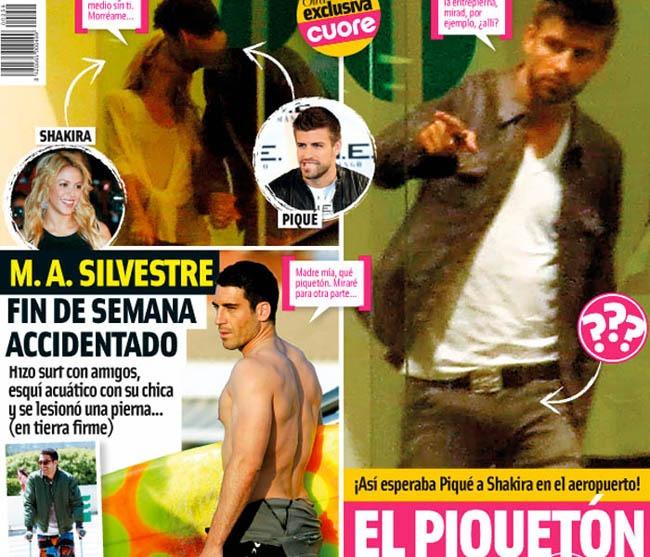 ... o con el piquetón que tiene a Shakira rabiosa (portada de revista Cuore)