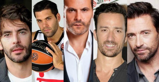 Eduardo Noriega, Felipe Reyes, Roberto Enriquez, Pablo Puyol y Huhg Jackman