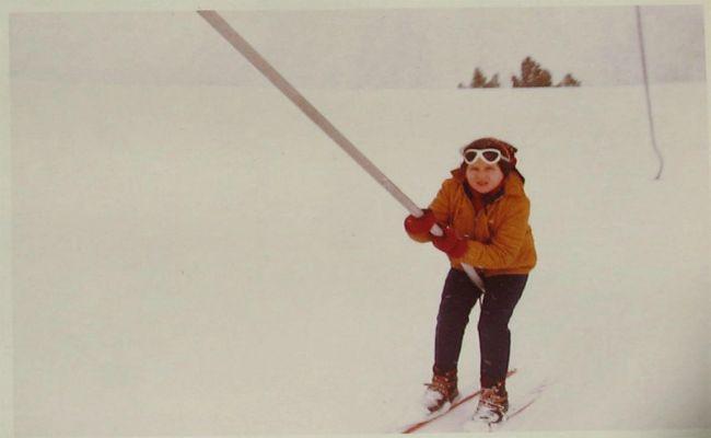 esquiadora telesquí