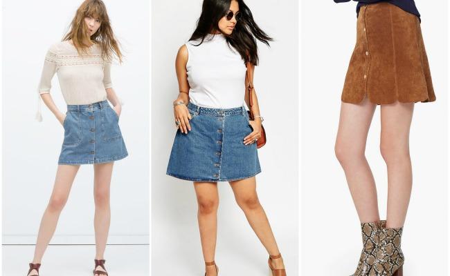 falda botones