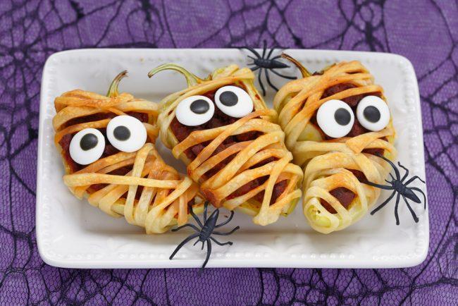 pimientos rellenos Halloween
