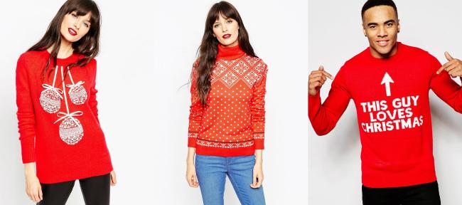 moda navidad rojo