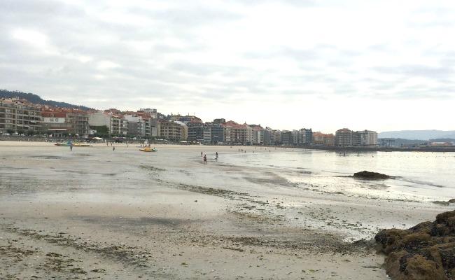 playa caminando
