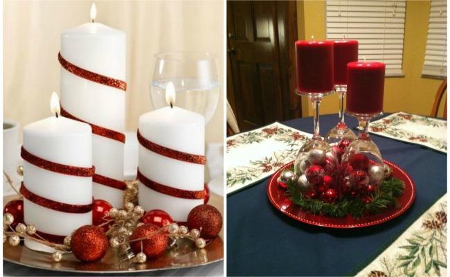 Ideas de centros de navidad para decorar tu mesa - Ideas para decorar la mesa de navidad ...
