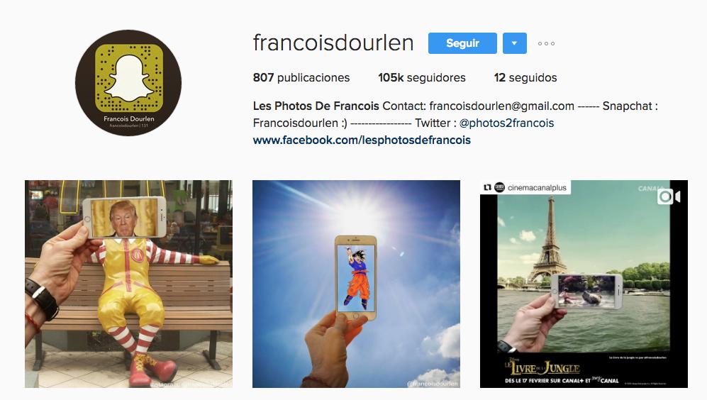 instagram para culturetas François Dourlen