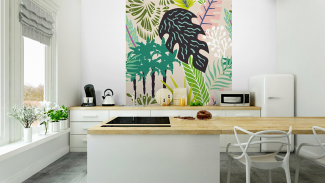 Papel pintado para vestir las paredes de tu casa y llenarlas de vida - Fotomurales cocina ...
