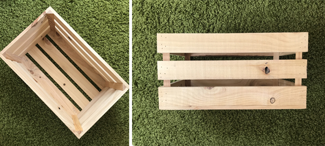 caja de madera de ikea