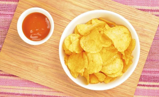 patatas con ketchup